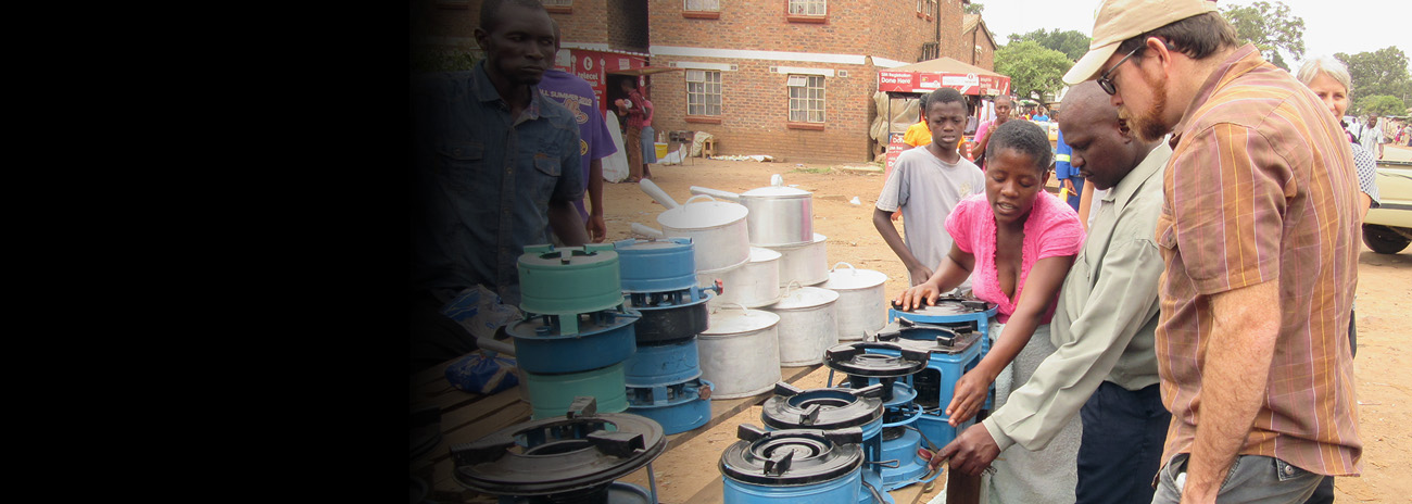 Locally made improved cookstoves in Harare, Zimbabwe